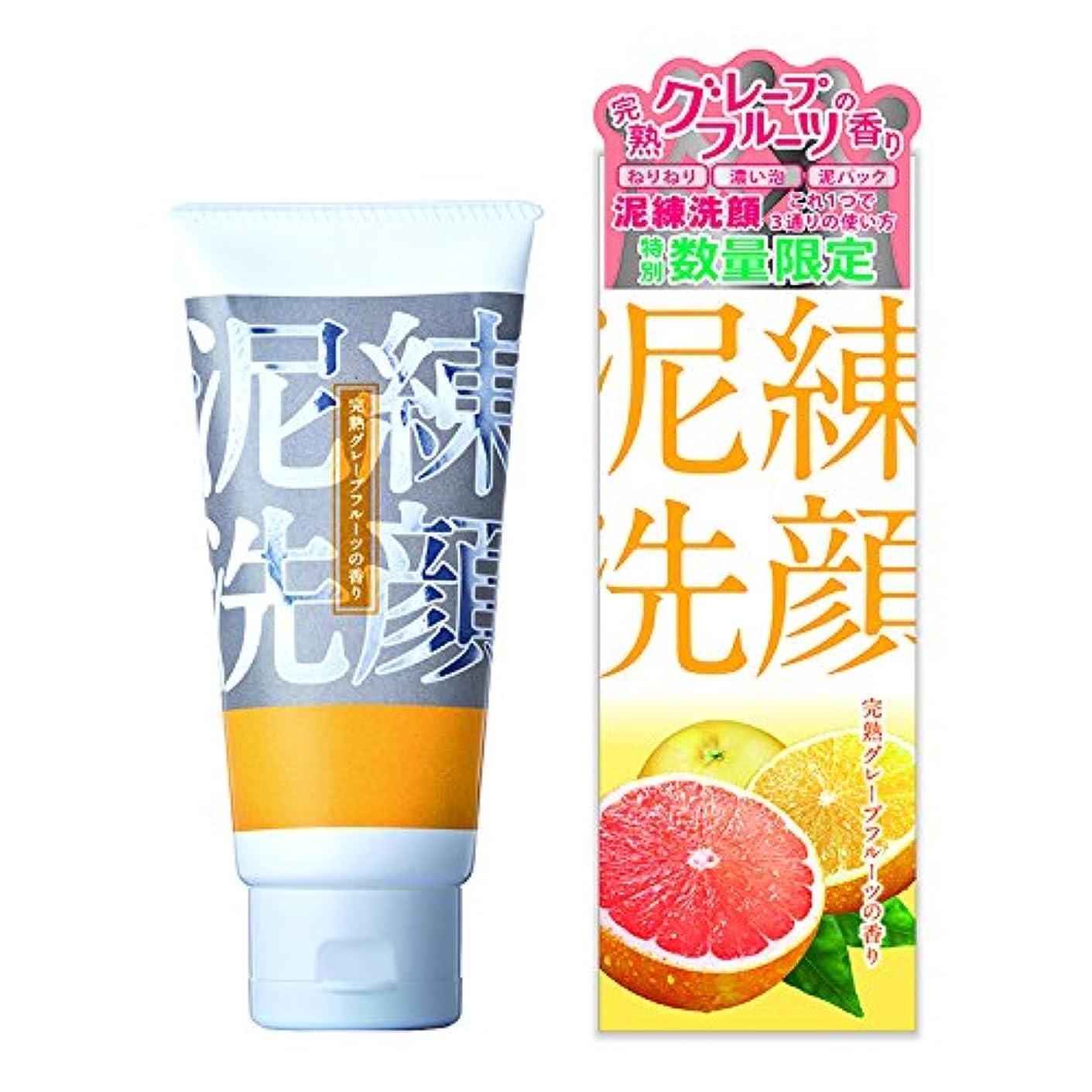 自動オリエンタル感謝泥練洗顔 完熟グレープフルーツの香り 120g【泥 洗顔 6種の泥で 黒ずみ 毛穴 洗浄 3つの使い方】