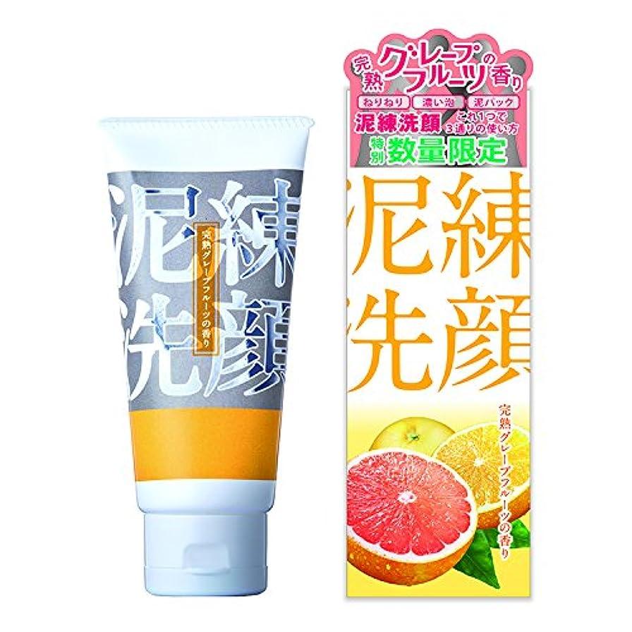 比率ゴージャス複雑な泥練洗顔 完熟グレープフルーツの香り 120g【泥 洗顔 6種の泥で 黒ずみ 毛穴 洗浄 3つの使い方】