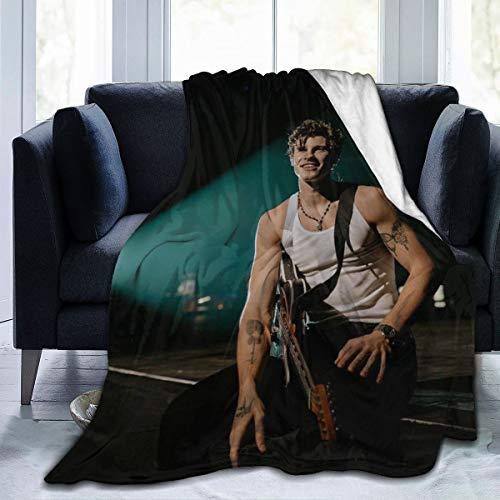 "Hope Wolrd Shawn Men-Des Ultra Soft Micro Fleece Throw Blanket Sofa Bed Blanket for Adults Kids 50"""" x40"