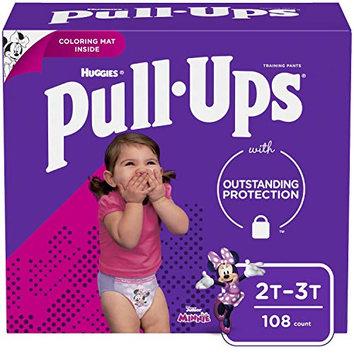 Pull-Ups Learning Designs For Girls Potty Training Pants, 2T-3T (18-34 Lbs.), 108 Count