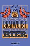 Bratwurst Zu Meinem Bier Notebook: A5 Kariert Bierbrau Buch, Notizbuch für Biebrauer, Hobbybrauer, Bier Brauen 120 Seiten 6x9 - Organizer Schreibheft Planer zum Ausfüllen