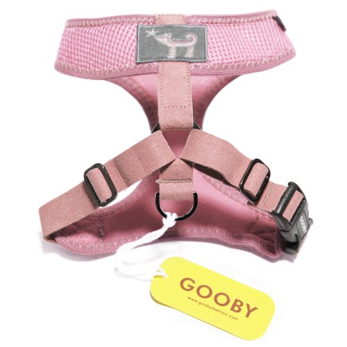 Gooby Choke Free Freedom Harness for Small Dogs, X-Large, Pink