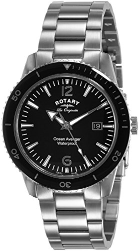 Rotary Watches Ocean Avenger Men's Black Dial...