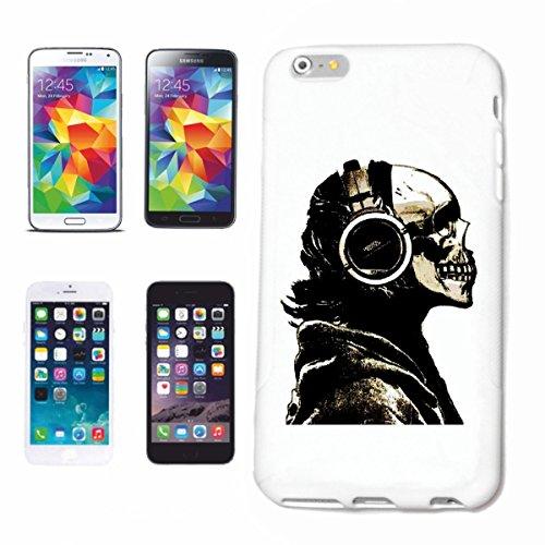 Bandenmarkt telefoonhoes compatibel met iPhone 6 Skull met koptelefoon biker chopper Fantasy Gothi Hardcase beschermhoes mobiele telefoon cover Smart Cover