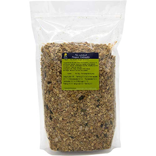 Granola with No Added Sugar 1kg Resealable Bulk Bag - No Gluten, Wheat or...