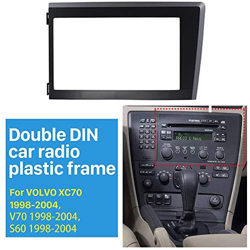 NBVNBV 2 DIN Marco para Radio Coche Ajuste para Volvo XC70 V70 S60 1998-2004, Marco Adaptador Autoradio/Placa Frontal Estéreo/Panel de Audio/Kit de Instalación de Autoradio CD