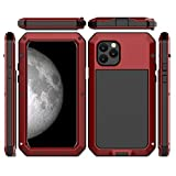 CarterLily iPhone 11 Case, Full Body Shockproof Dustproof Waterproof Aluminum Alloy Metal Gorilla Glass Cover Case for...