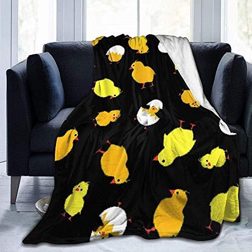 DYJNZK Mantas Pollo Amarillo Lindo Manta De Microfibra De Franela Ultra Suave para Adultos Y Niños para Todas Las Estaciones Mantas Ligeras para Oficina Hogar Sofá Cama 80X60 Inch