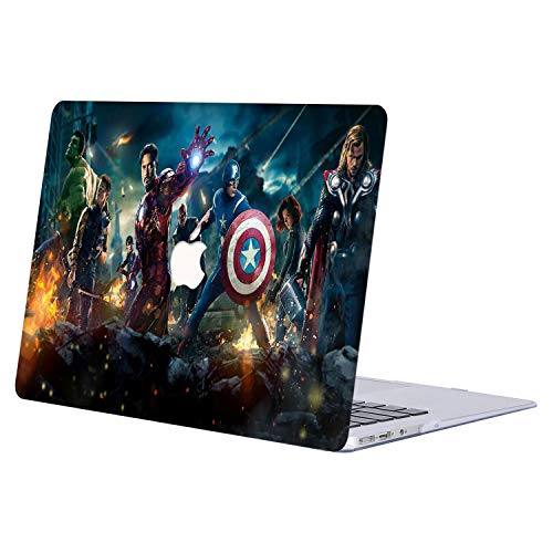 AJYX MacBook Air 13 Inch Case 2020 2019 2018 Release A2179/A1932, The Avengers Pattern Case, Plastic Hard Protective Shell Case for MacBook Air 13 Inch & Retina Display Fits Touch ID - R334 Avengers