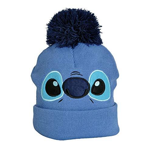 Elbenwald Lilo & Stitch Disney Mütze Stitch Face blau
