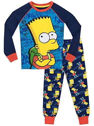 The Simpsons Jungen Bart Simpson Schlafanzug - Slim Fit - 158