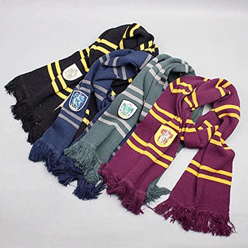 AMZOLNE Harry Potter túnica mágica Traje de Cosplay Capa Capa Disfraz de Halloween-Hufflepuff de Gama Alta Scarf_S