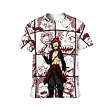 WQEDZSADv Kirishima Eijiro Collage My Hero Academia 3D Print Short Sleeve T Shirts for Boy Girl White-style1 4XL