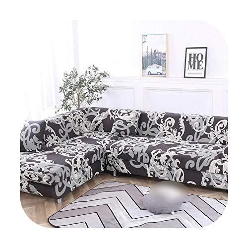 VACHE - Funda de sofá esquinera para mascotas, funda de sofá elástica para el salón, funda de sofá de poliéster extensible, funda de sofá de 13 a 3 plazas de 195-230 cm