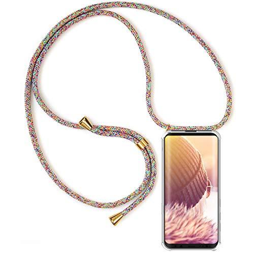 Handykette Handyhülle mit Band für Samsung Galaxy S8 Cover - Handy-Kette Handy Hülle mit Kordel Umhängen -Handy Halsband Lanyard Hülle/Handy Band Halsband Necklace
