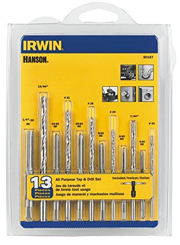 IRWIN Tools HANSON 80187 All-Purpose Bit with Tap 13 Piece Set