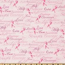 Timeless Treasures Ribbons of Hope, Pink