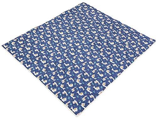 Ideenreich 2544 IDEENREICH Baby Krabbeldecke Krabbeltraum  Lama blau  130x150cm   ideal als Spieldecke, Krabbeldecke und Laufgittereinlage, blau