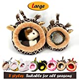 MYIDEA Guinea Pig Bedding/Bed Nest - Hedgehog House, Lizard Nest,Squirrel,Chinchillas & Small pet Animals Hideout/Cube, Habitat, Lightweight, Durable, Portable, Cushion Big Mat (L, Giraffe)