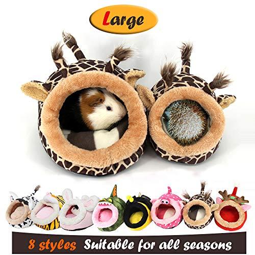 MYIDEA Guinea Pig Bedding/Bed Nest - Hedgehog House, Lizard Nest,Squirrel,Chinchillas & Small pet Animals Hideout/Cube, Habitat, Lightweight, Durable, Portable, Cushion Big Mat (L, Giraffe)