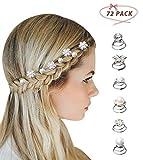 Surplex 72 pcs horquillas en espiral para el pelo con diamantes de imitación flores blancas, perlas Rhinestone y cristales, para tocados y peinados de novia bodas fiestas, 8 estilos