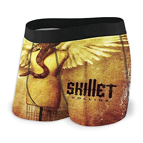 Haiyaner Men'S Skillet Collide Soft Breathable Underwear Boxer Briefs M