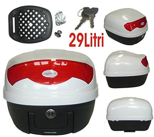 A della Pro Box gepa Eck Moto Scooter top case universale 29Lt 3,5kg. 2chiavi Bianco
