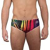 OPTIMUM, Costume da Bagno, da Uomo, Motivo: Arcobaleno, zebrato Multicolore Multicolori Taglia 34