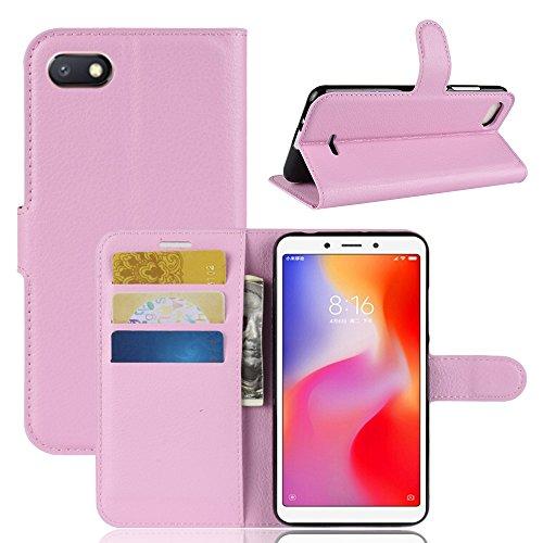 Capa Capinha Carteira Flip Wallet Case 360 Xiaomi Redmi 6a Tela 5.45 Couro Sintético Pronta Entrega (Rosa Claro)
