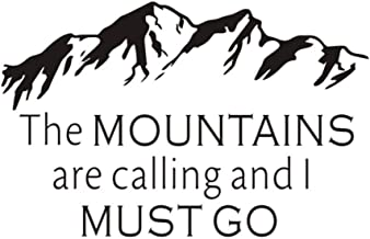 Huanxidp The Mountains Are Calling And I Must Go Inspirational Quotes Wall Stickers Removable Vinyl Wall Decal Home Diy Art Mural 67cm X 43cm