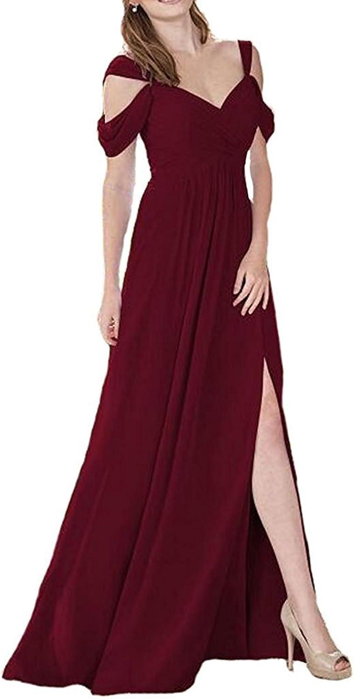 Annas Bridal Womens Off The Shoulder Slit Prom Dresses Long Formal Evening Dress