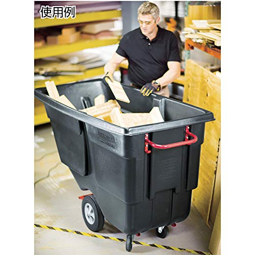 Rubbermaid Commercial Products Forkliftable Polyethylene Tilt Dump Truck, 450-Pound Capacity, for Office, Restaurant, Worksite, Trash Cart with Wheels, Black