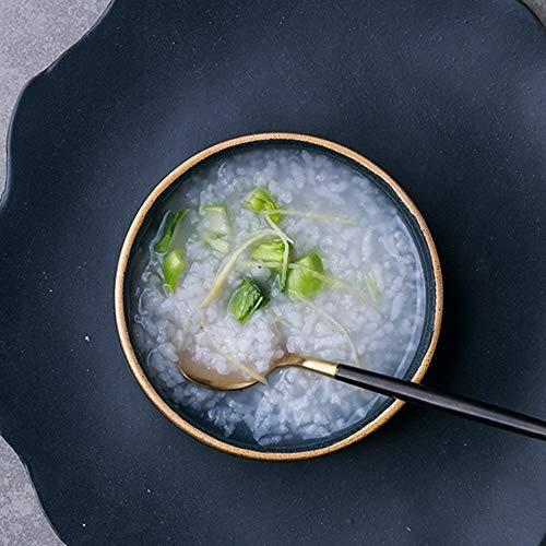 CAIJINJIN Tazón Tazón CivilWeaEU- plato de vajilla de cerámica/Europeo Phnom arroz de alta platillo/condimento plato/plato de olla caliente