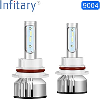 INFITARY HB1 9004 LED Headlight Bulb Newest Version Dual High Low Beam 9000 Lumens 72W 6500K Super Bright White LED Plug and Play Conversion Kit- 2 Year Warranty