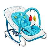 Silla Mecedora para Bebés - Silla Giratoria para Bebés, Cuna Bebé Reclinable con Música Vibración Relajante, Silla para Bebé De 0 A 18 Meses Bebés