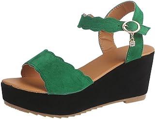 9c84ae35357 PAOLIAN Sandalias de Vestir para Mujer Verano 2018 Moda Zapatos de Tacón  Altas de Cuña Plataforma