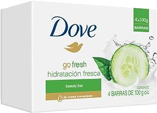 Dove, Jabón en Barra, Go Fresh, Incluye 1 Paquete con 4
