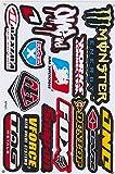 Autocollant Sticker Sponsors Réglage Tuning Rally Voiture modèle Moto 1 Page 27 x 18 cm pour l'extérieur (Variante 2)