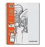 Roaring Spring Whitelines - Cuaderno de alambre (11 x 21,5 cm, forrado), 70 hojas