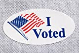 500 Pcs, I Voted Election Label Sticker 3/4' X 1 1/2' Oval Apparel Safe