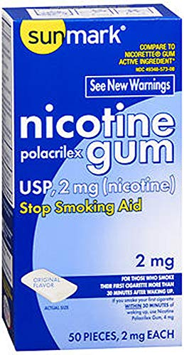 Sunmark Sunmark Nicotine Polacrilex Gum Original Flavor, Original Flavor 50 each 2 mg