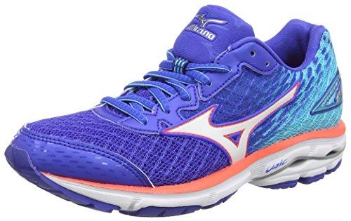 Mizuno Wave Rider 19 - Zapatillas de running Mujer, Azul - Blue (Dazzling Blue/White/Capri), EU 38.5 (US 8)