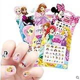 esealainjz Nail Sticker Baby Mädchen Kinder Maniküre Applique Frozen Cartoon Nail Sticker