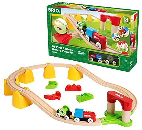 BRIO (ブリオ) レールウェイ マイファースト バッテリーパワーレールセット [ 木製レール おもちゃ ] 33710
