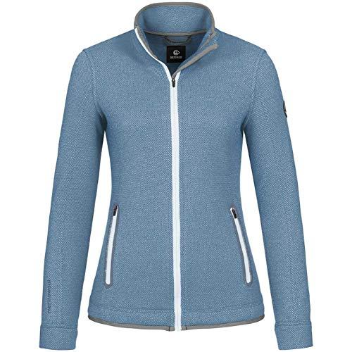 GIESSWEIN Walk Jacke Sina - Damen-Jacke aus 100% Merino Wolle, Sport Weste mit Stehkragen, temperaturregulierende Woll-Filz Outdoor Bekleidung, atmungsaktiv & leicht