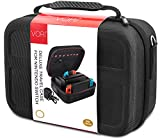 Carry Case for Nintendo Switch - VORI Protective Hard Portable EVA Travel Carrying Case Shell Pouch for Nintendo Switch Console & Accessories (Black)