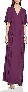 BCBG Max Azria Women's Georgette Flutter Slit Full Length Gown