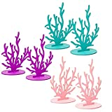 Free Space Decorazioni in Feltro per Feste Fai-da-Te a Sirena Decorazioni per Feste di Compleanno/Laurea Ornamento da Tavolo sotto Il Mare Baby Shower (6pcs Coral)