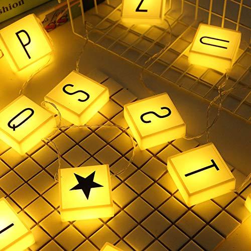 YLSMN Net roten Buchstaben Leuchtkasten leuchtet einfache nordische kreative Nachttischdekoration Licht Stifte Requisiten Mädchen Herz romantisch nachtlicht