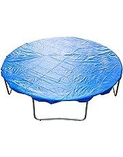 HOMCOM Funda Proteccion para Cama Elástica Trampolines Impermeable Redondo Durable y Resistente Ø 366cm PE Azul